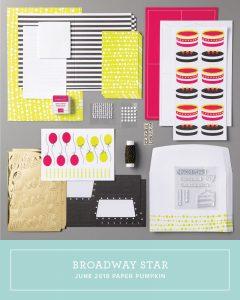 Paper Pumpkin Broadway Star