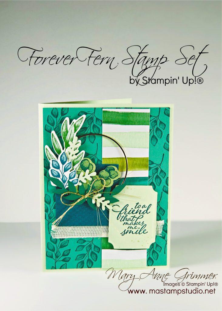 Forever Fern Stamp Set, Stampin' Up!, Mary Anne Grimmer, www.mastampstudio.net