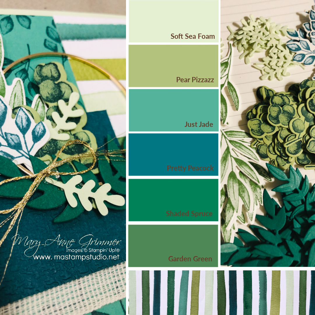 Color Swatch for Forever Greenery Stampin' Up!®, Mary Anne Grimmer, www.mastampstudio.net